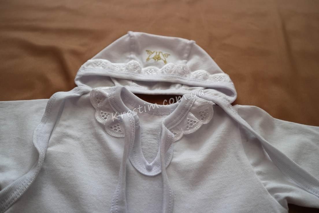 Крестильная рубашка с чепчиком - Фото 6