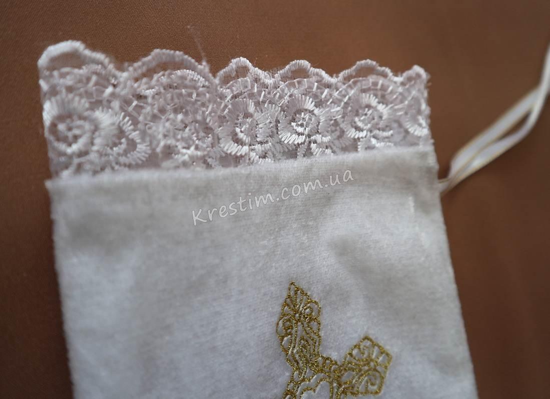 Мешочек для первого локона с вышивкой - Фото 4