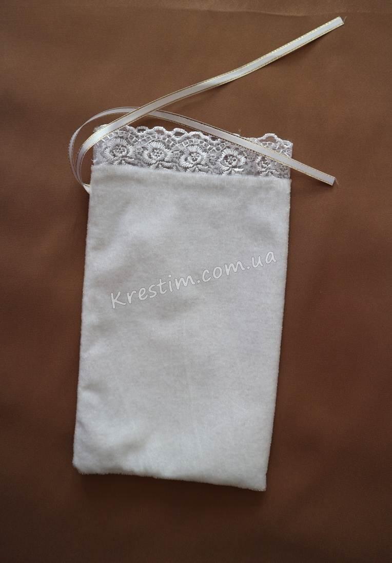 Мешочек для первого локона с вышивкой - Фото 3