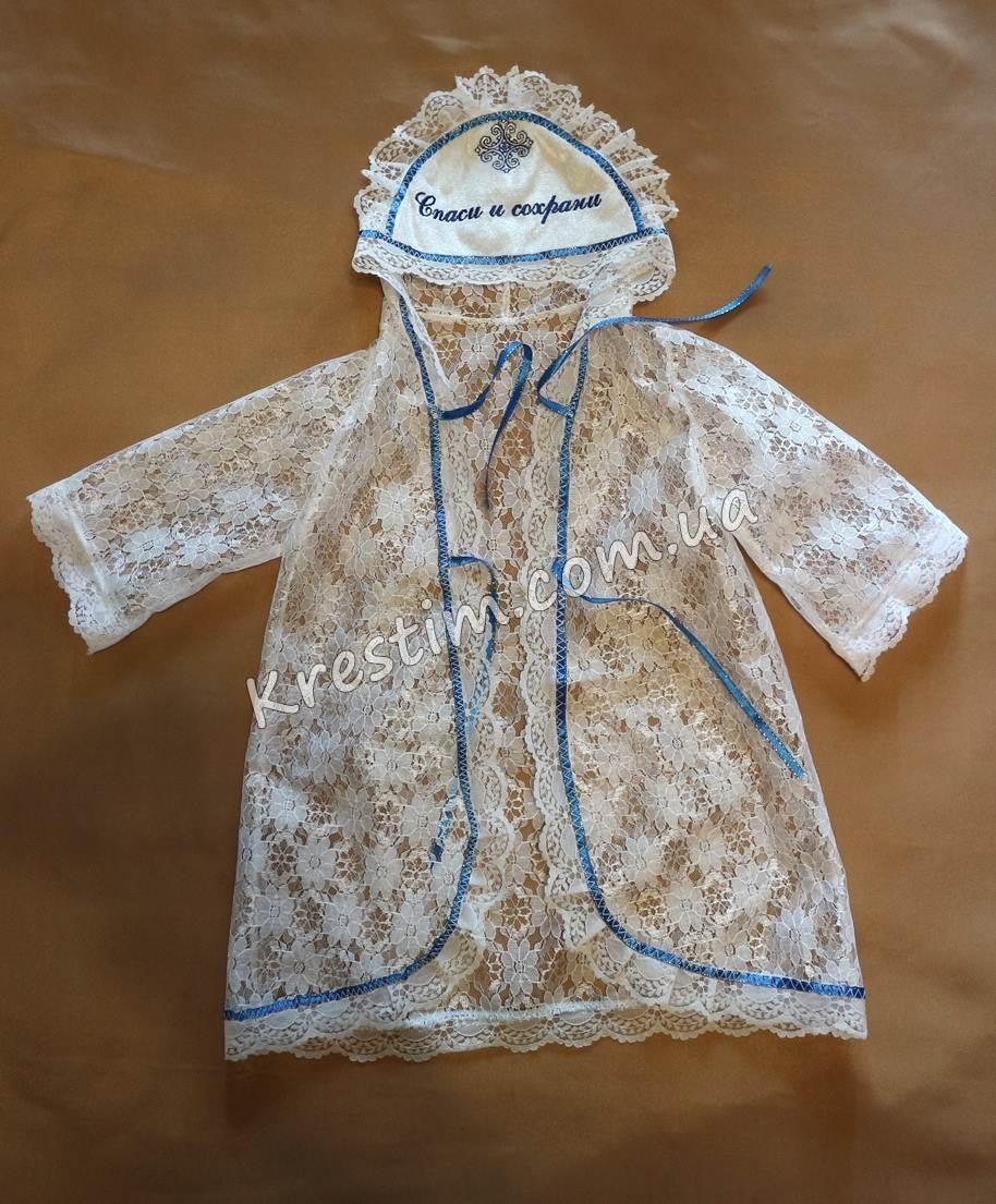 Крестильная рубашка с вышивкой - Фото 2