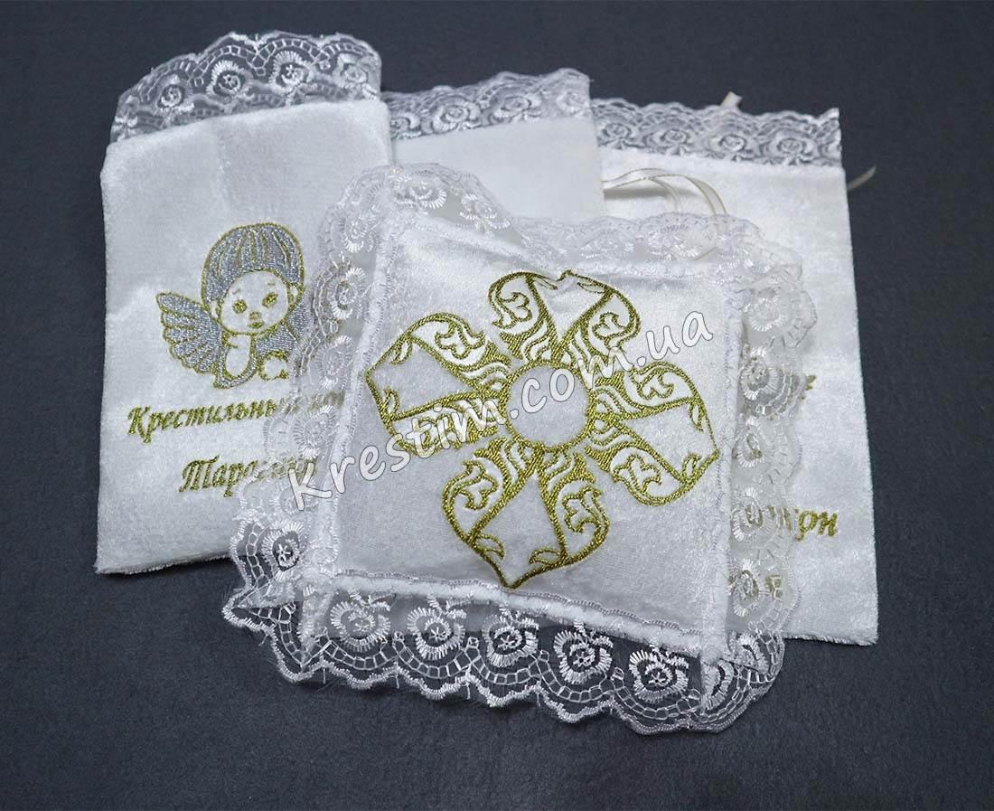 Крестильная подушечка для крестика - Фото 5