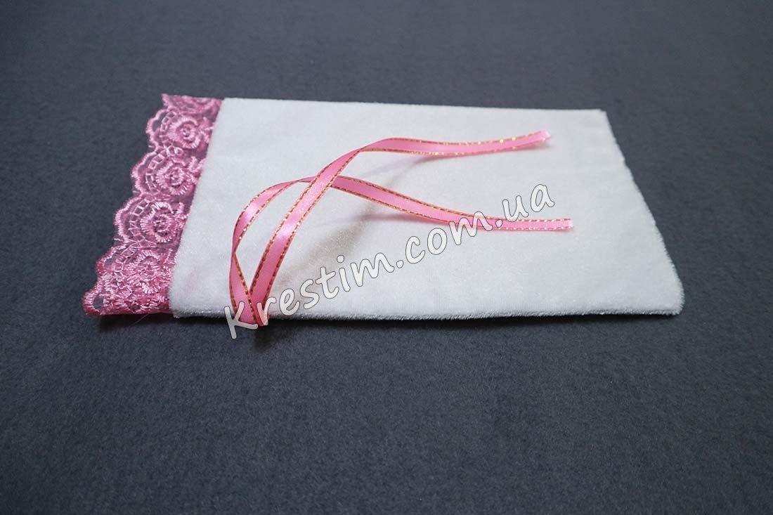 Крестильный мешочек в розовых цветах - Фото 6
