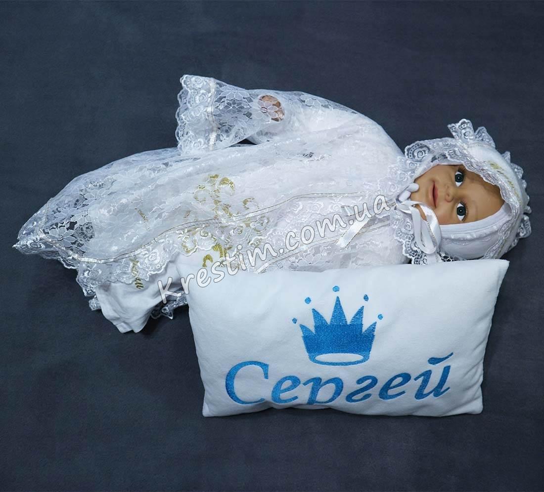 Подарочная подушечка с вышивкой - Фото 3