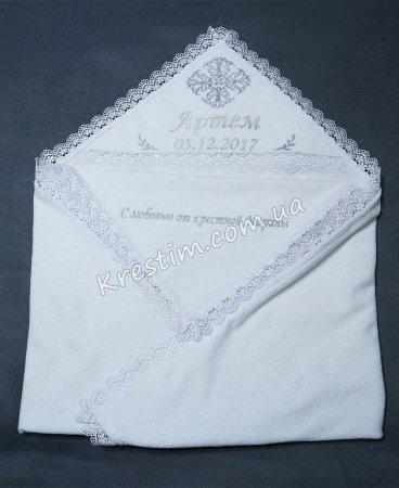 Крыжма Артем серебряная вышивка