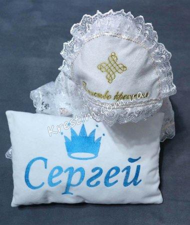 Подарочная подушечка с вышивкой