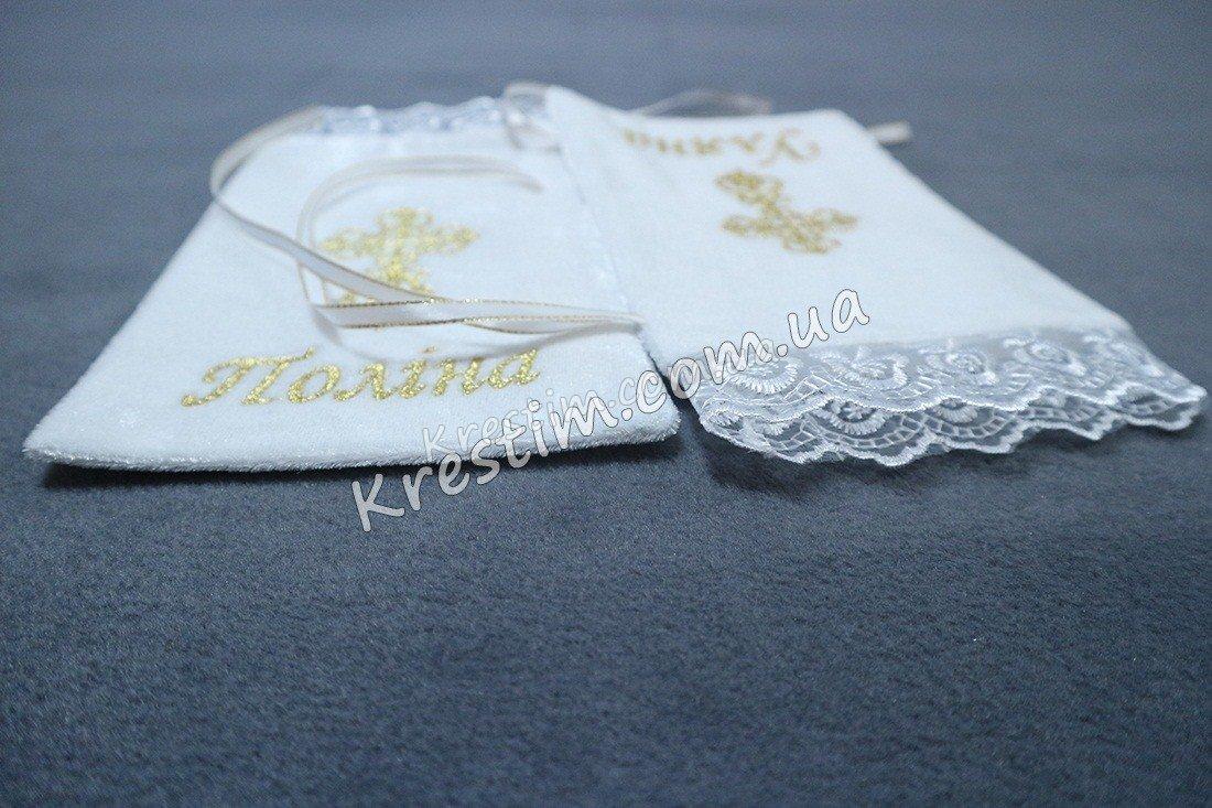 Крестильный мешочек для локона с любой вышивкой - Фото 2