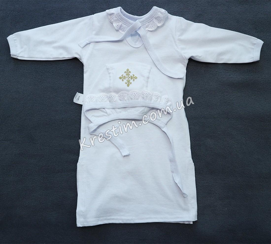 Длинная крестильная рубашка унисекс - Фото 5