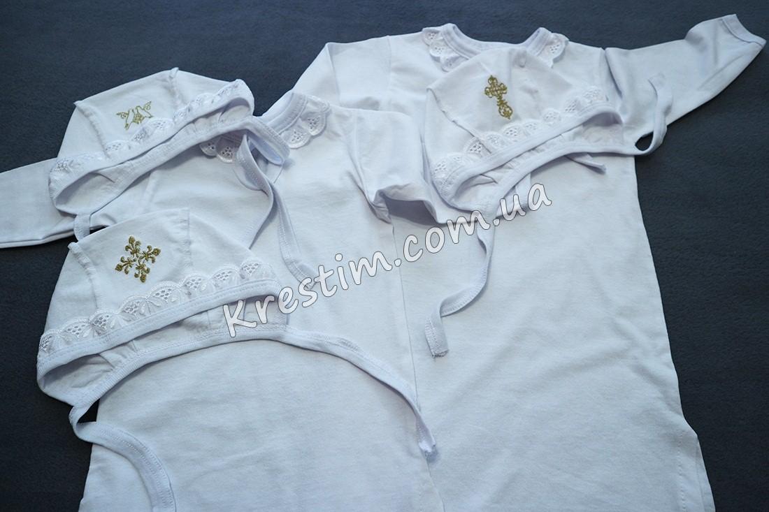 Длинная крестильная рубашка унисекс - Фото 1