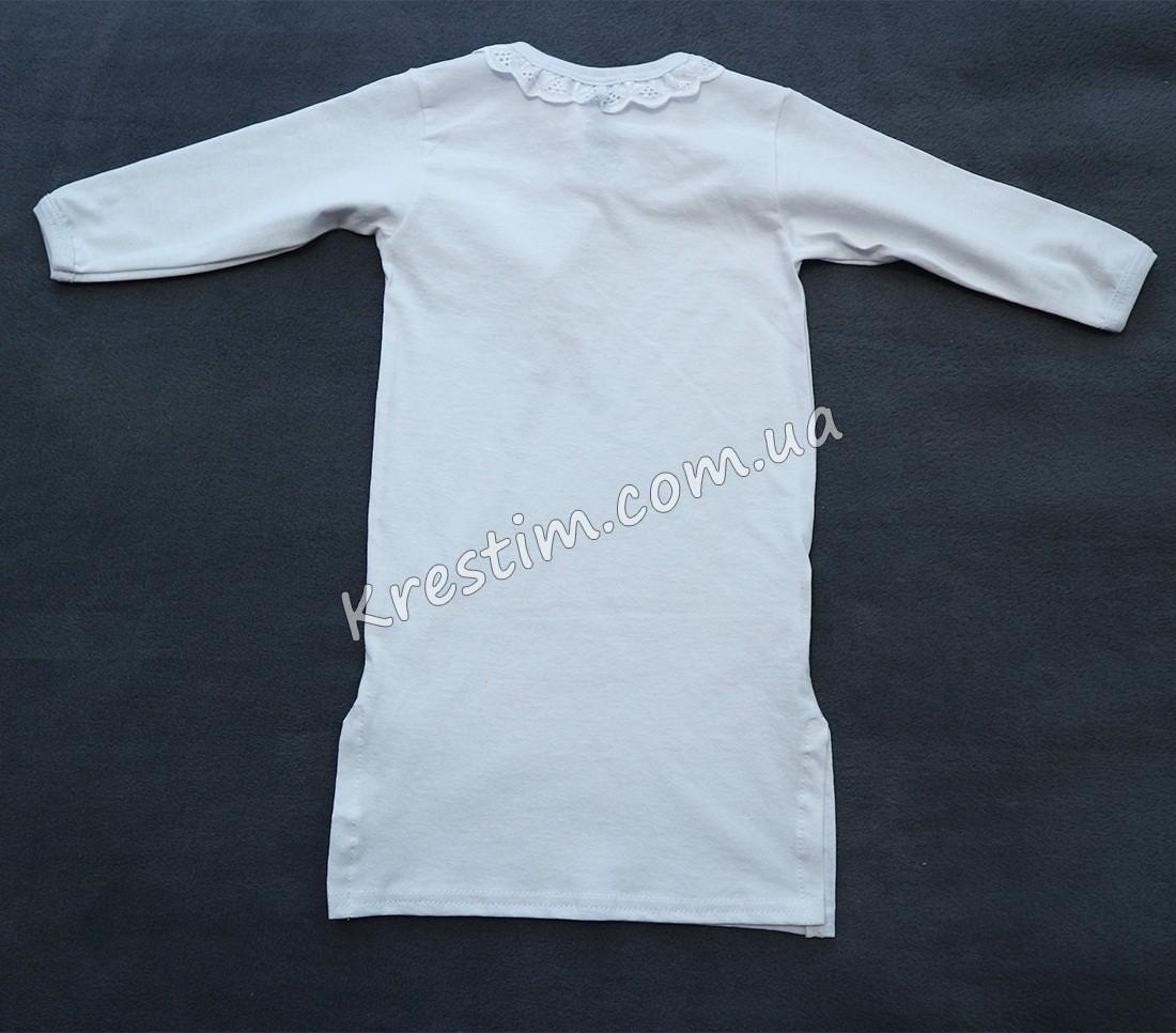Длинная крестильная рубашка унисекс - Фото 4