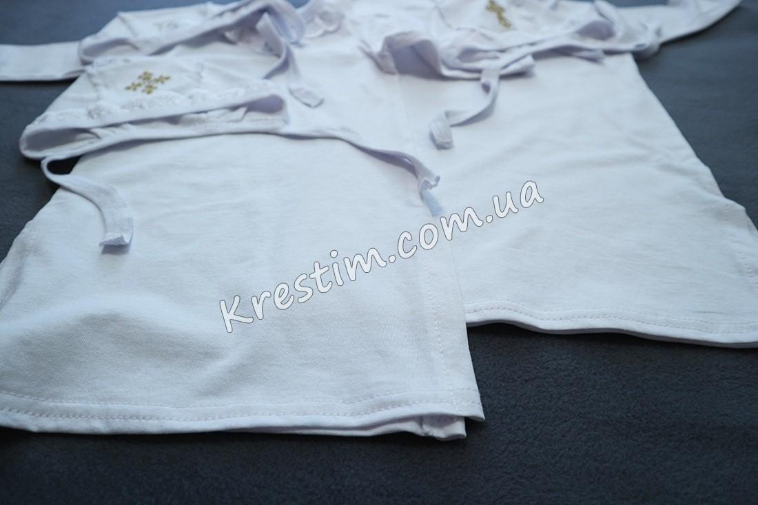 Длинная крестильная рубашка унисекс - Фото 2