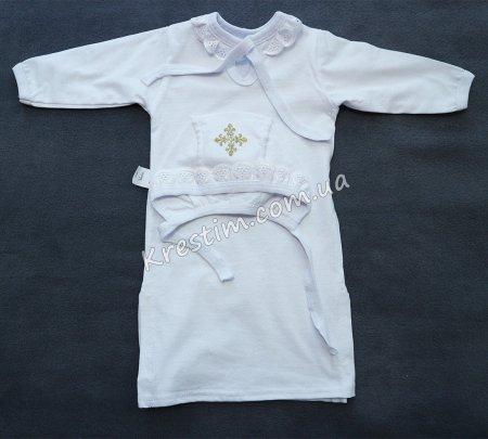 Длинная крестильная рубашка унисекс