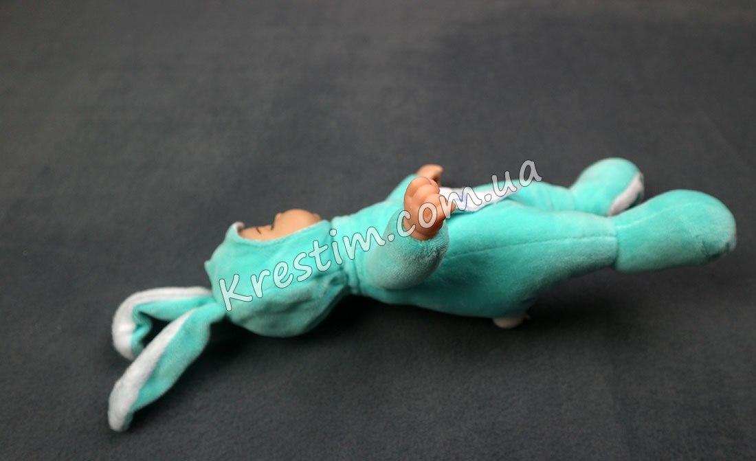 Зайчик-сплюшка с именной вышивкой - Фото 3