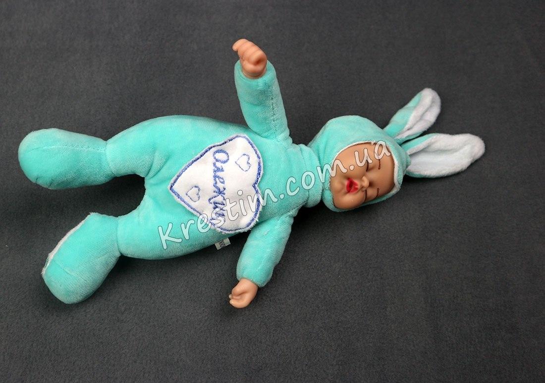Зайчик-сплюшка с именной вышивкой - Фото 2
