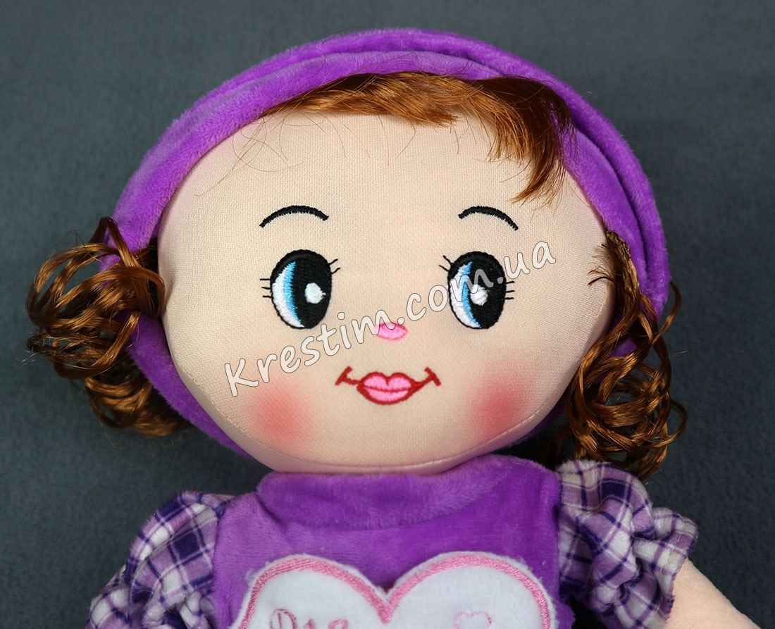 Кукла в платье в клеточку с именной вышивкой - Фото 5