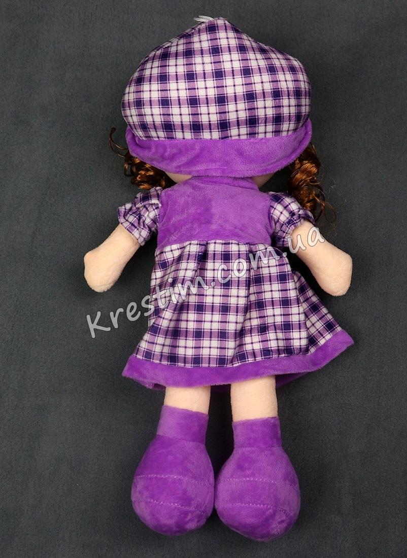 Кукла в платье в клеточку с именной вышивкой - Фото 2