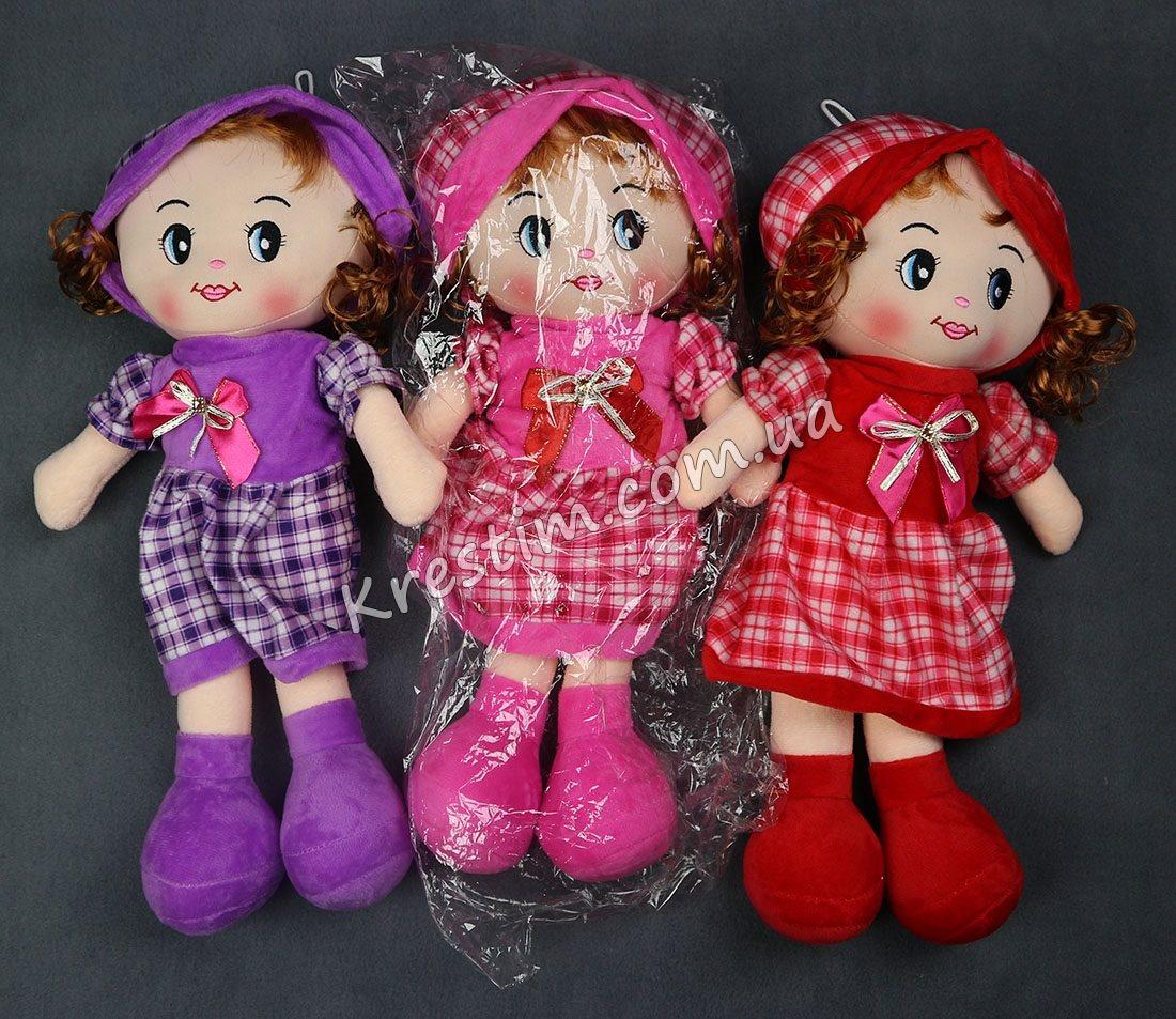 Кукла в платье в клеточку с именной вышивкой - Фото 6