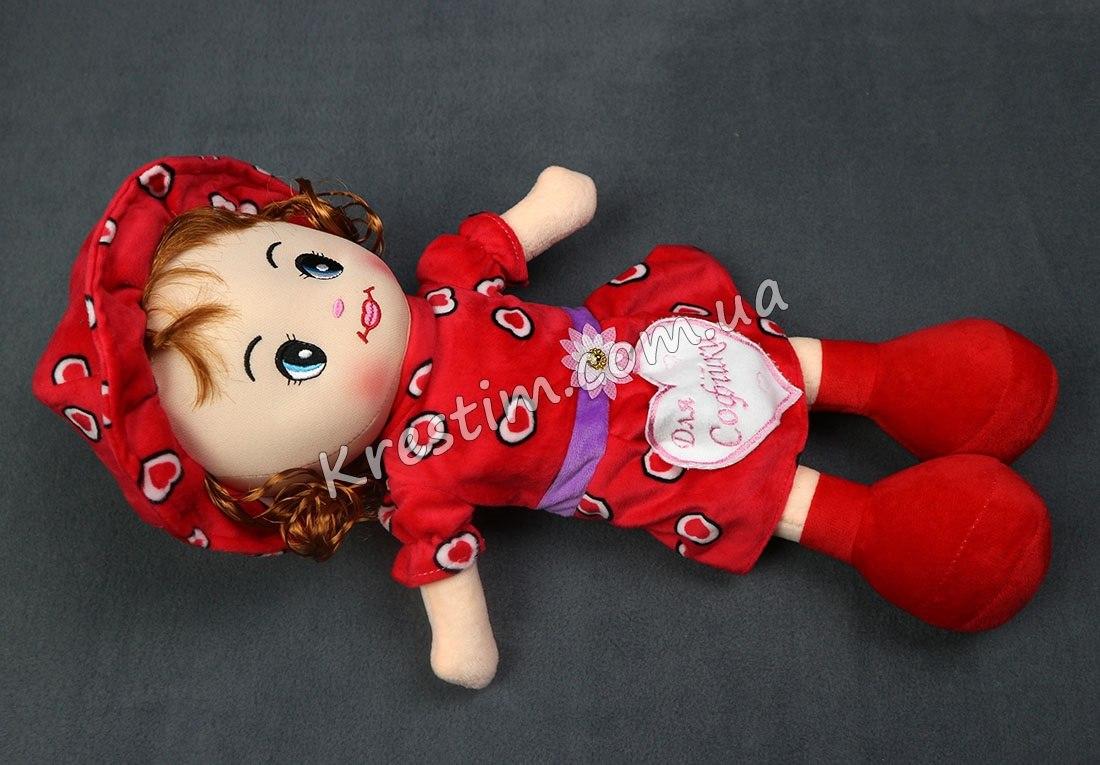 Кукла в платье в сердечках с именной вышивкой - Фото 5