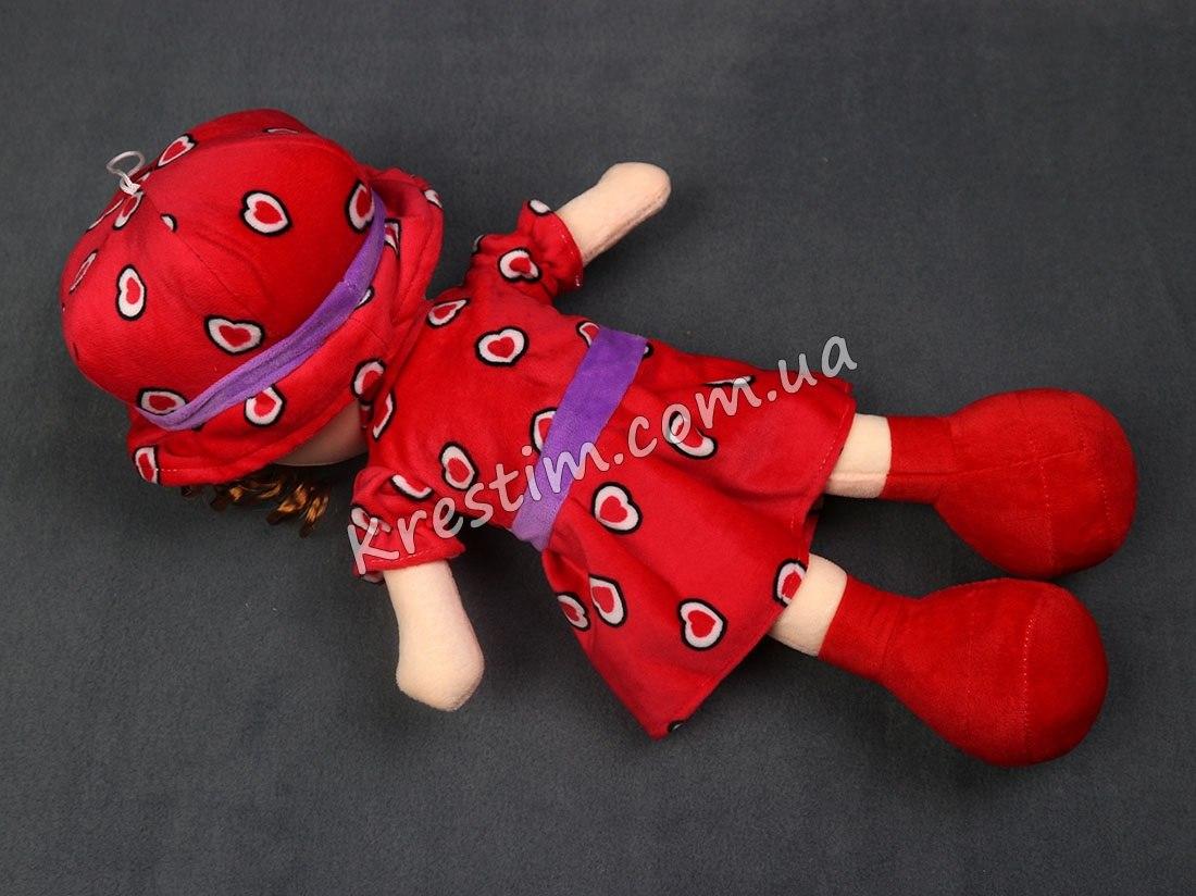 Кукла в платье в сердечках с именной вышивкой - Фото 6