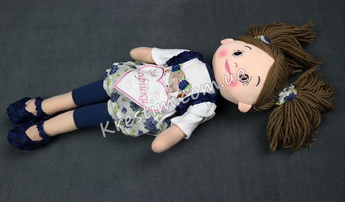 Высокая кукла с именной вышивкой - Фото 5