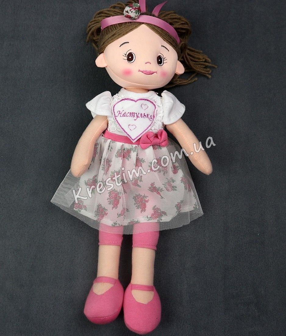 Высокая кукла с именной вышивкой - Фото 4