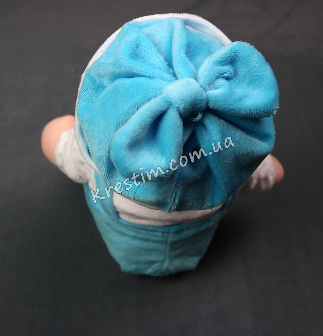 Кукла-мальчик в сидячем виде с именной вышивкой - Фото 4